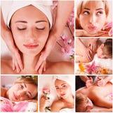 Massagebrunnsortuppsättning royaltyfri foto