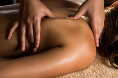 Massagecloseup arkivbild