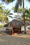 Massagehütte auf Strand Stockfotografie