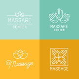 Massagelogoer vektor illustrationer