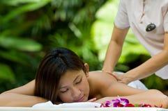 Massagem ao ar livre foto de stock
