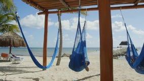 A massagem apresenta a praia video estoque