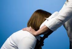 Massagem da cadeira Imagem de Stock