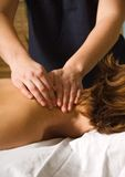 Massagem da garganta Fotografia de Stock