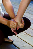 Massagem da mão Foto de Stock Royalty Free