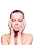 massagem das mãos Imagens de Stock