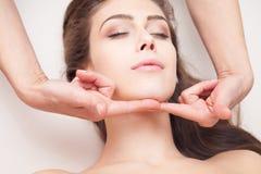 Massagem de cara imagens de stock