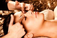 Massagem de face profissional fotografia de stock royalty free