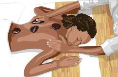 Massagem de pedra quente Imagem de Stock
