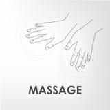 Massagem do logotipo Imagens de Stock