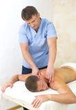 Massagem dos esportes fotos de stock royalty free