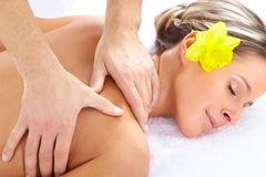 massagem dos termas fotos de stock