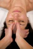 Massagem na raiz do nariz Fotografia de Stock Royalty Free