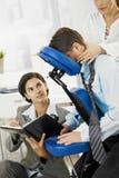 Massagem no escritório foto de stock royalty free