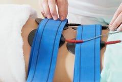 Massagem para a cavidade da barriga. fotografia de stock