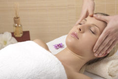 Massagem principal foto de stock royalty free