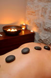 Massagem quente das pedras Imagens de Stock Royalty Free