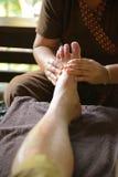 Massagem tailandesa do pé dos termas Imagens de Stock Royalty Free