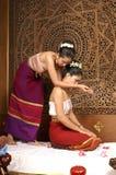 Massagem tailandesa saudável Imagem de Stock Royalty Free