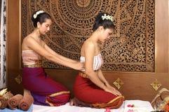 Massagem tailandesa saudável Foto de Stock
