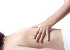 Massagem traseira Imagens de Stock