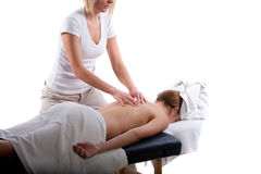 Massagem traseira fotos de stock