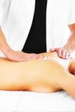 Massagem traseira imagens de stock royalty free