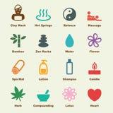 massagen för skönhethuvuddelelement mjölkar naturliga brunnsortstenar Royaltyfri Fotografi