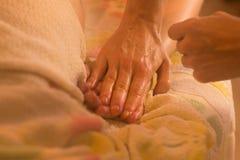 Massageprozeß im Badekurort Stockfotografie