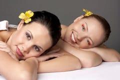 Massageprozedur stockfotos