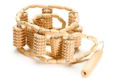 massager κύλινδρος ξύλινος Στοκ Εικόνες