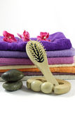 Massager and brush Royalty Free Stock Photo