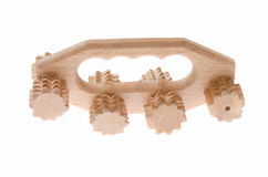 Massager en bois d'anticellulite pour la peau femelle Photo stock