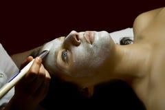 Massages faciaux Photographie stock