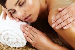 Massagesalon stockbilder