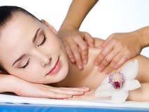 massageskulder Royaltyfri Fotografi