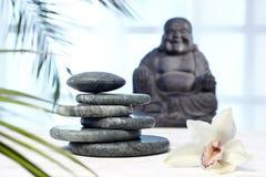 Massagestenar från Jade Buddha royaltyfria bilder