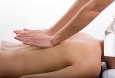 massageterapi Royaltyfria Bilder