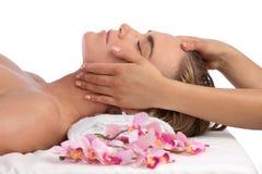 Massaggio alla stazione termale Immagine Stock