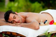 Massaggio attendente Fotografia Stock