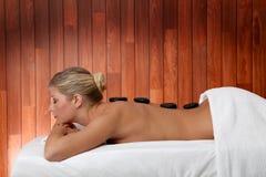Massaggio caldo delle pietre Fotografia Stock