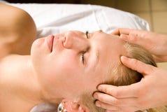 Massaggio capo Fotografia Stock
