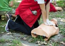 Massaggio cardiaco Fotografia Stock Libera da Diritti