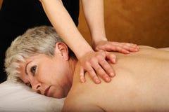 Massaggio completo maggiore del corpo di forma fisica e di salute Immagini Stock Libere da Diritti