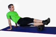 Massaggio con un rullo immagine stock