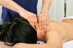 Massaggio del collo Fotografia Stock Libera da Diritti