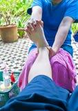 Massaggio del piede Fotografie Stock