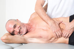 Massaggio del tessuto del muscolo Fotografia Stock Libera da Diritti