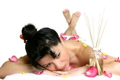 Massaggio dell'aroma fotografia stock