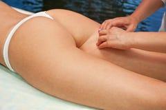 Massaggio della donna Immagine Stock Libera da Diritti
